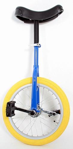 Eenwieler 16 inch blauw